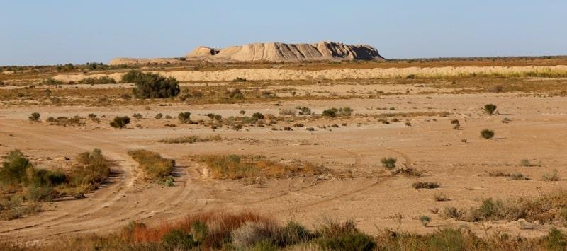 Ancient settlements of Dzhety-Asar culture. Kyzylorda region.