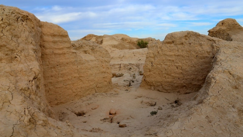 The ruins of the ancient settlements of Dzhety Asar culture. Kyzylorda Region.