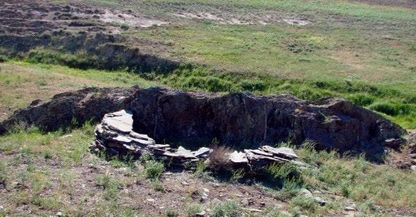 Settlement site around Sauiskandyk petroglyphs.