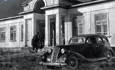 Старое фото музея Жабаева в поселке Жамбыл.