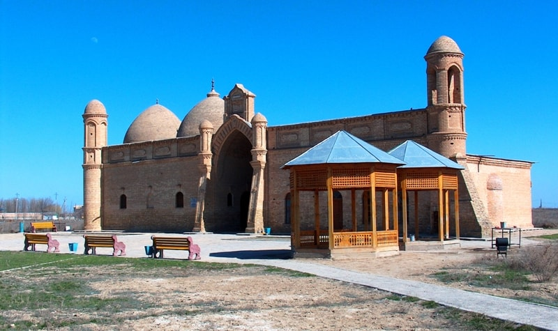 The mausoleum of Arystan bab.