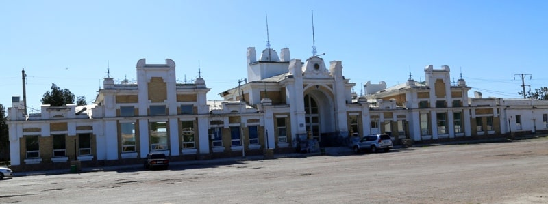 Вокзал ж-д станции Арысь 1.