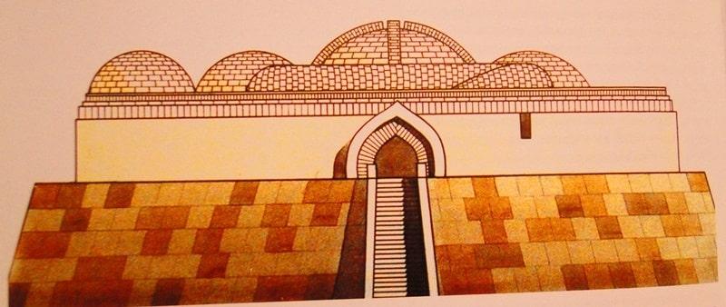 Комплекс цитадели Баба Ата. Графическая реконструкция З.Ш. Шарденовой.