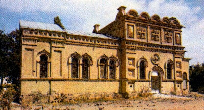 Церковь в Каскасу. Фотография 80-ых годов XX века.