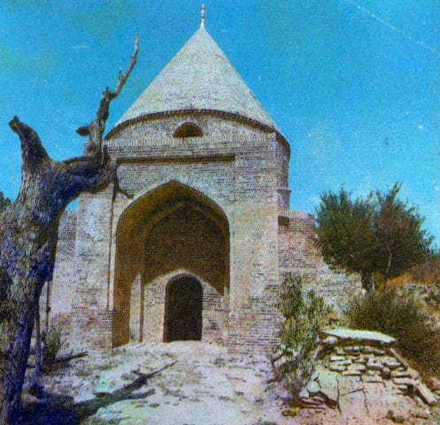 Saint of the tomb Ismail Ata in the village of Turbat. Photo of the 80s of the XX century.