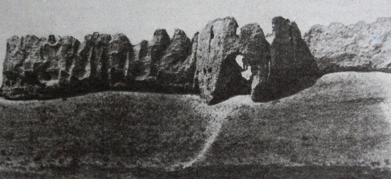 Ancient settlement Sauran. Photo of the 80s of the XX century.