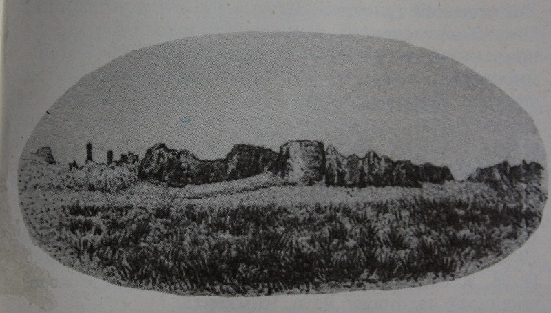 The ruins of Sauran (illustration from the book of P.I. Pashino).