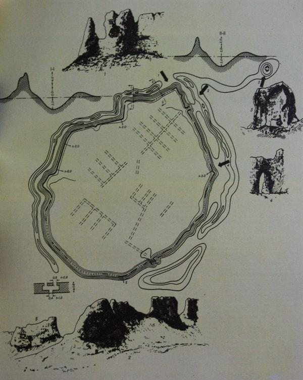 План городища Сауран.