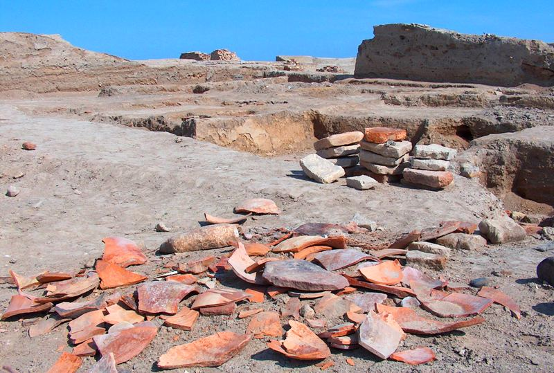 На раскопках на городище Отрар.