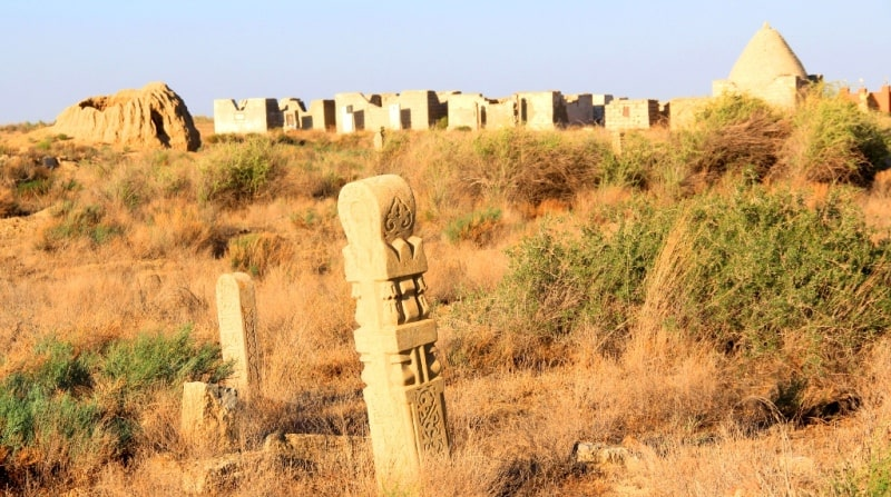 The necropolis Ushkan ata of the Atyrau region.