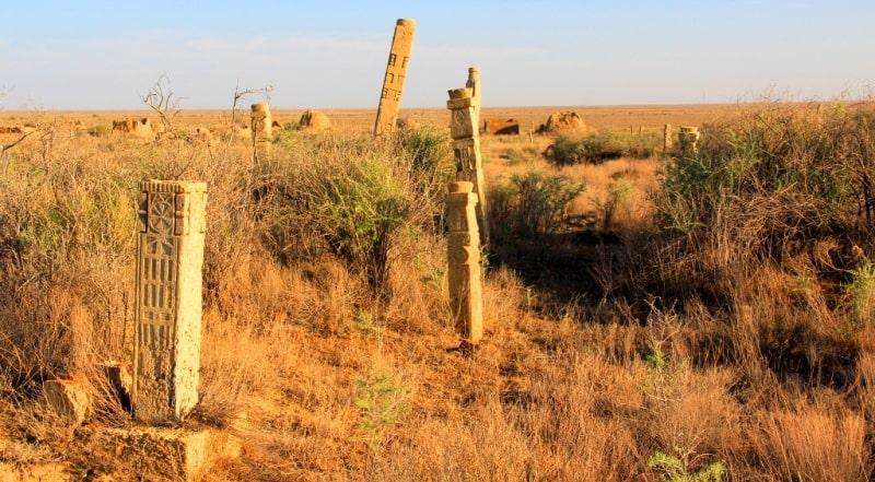The necropolis Ushkan ata of the Atyrau region.