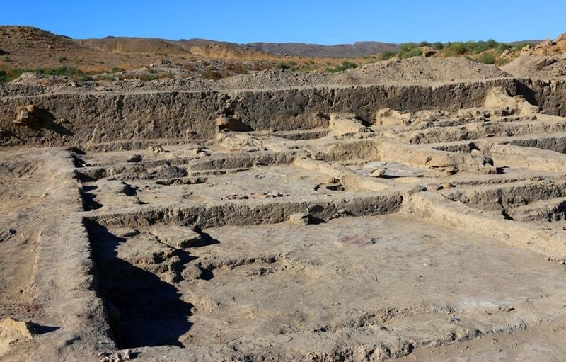 Kyzylkala ancient settlement and vicinity.