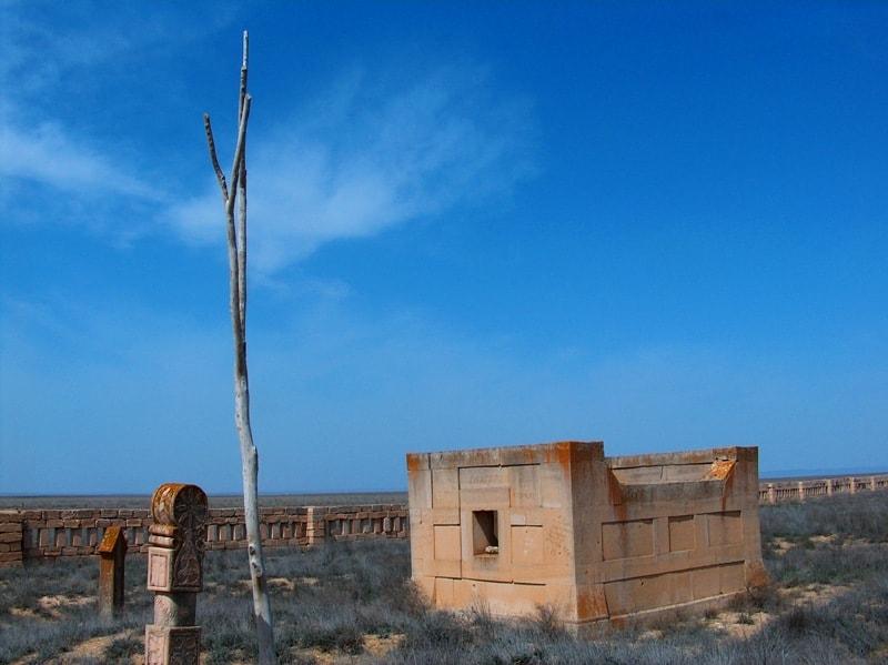 Саганатама на некрополе Караман-Ата.