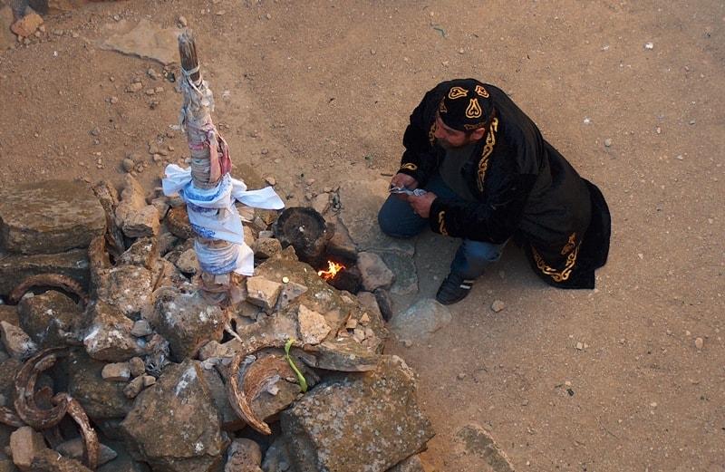 Молитва ширакши на некрополе Кенты-баба.