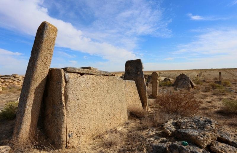 Necropolis Old Beineu on Mangistau of province.