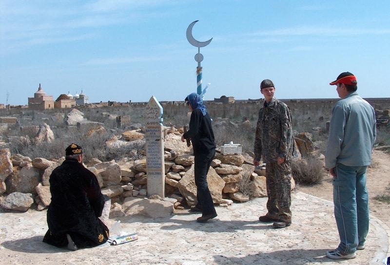 Underground mosque Karaman-ata.