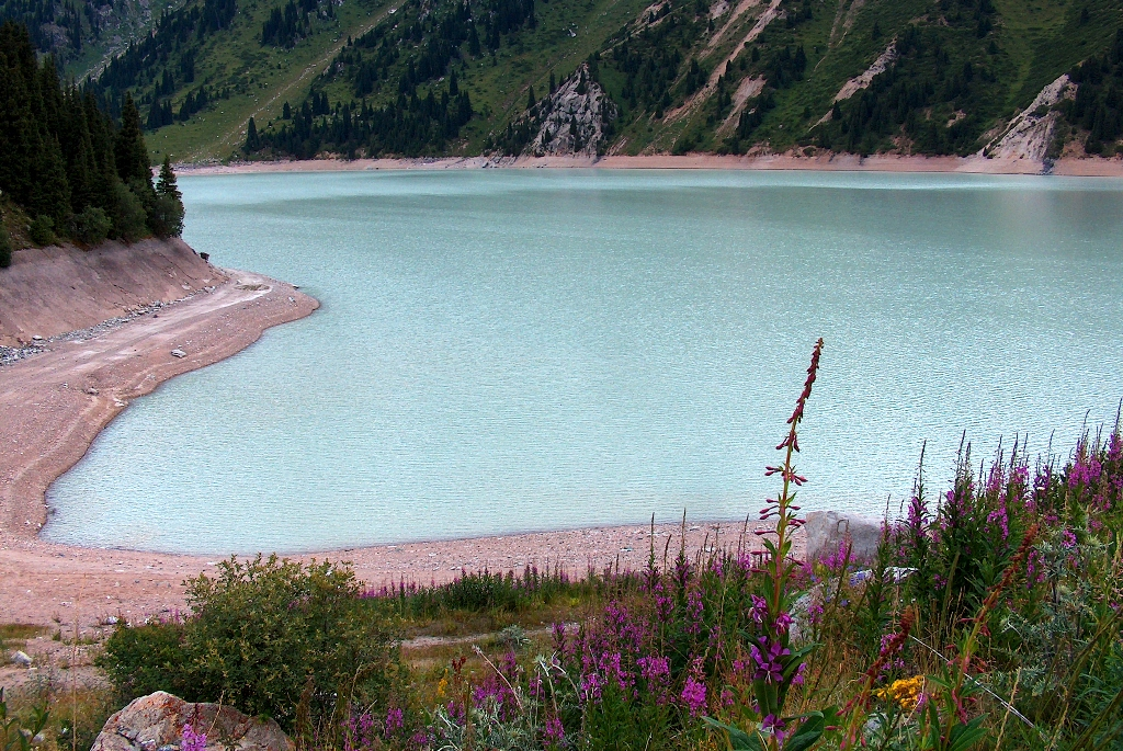 Lake Big Almaty. Zailiyskiy Ala-Tau. National park Ile-Alatau. Almaty of province.