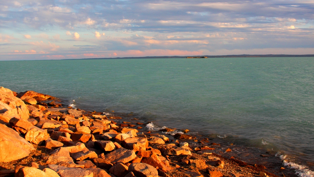 Lake Balkhash. Zhambyl of province.