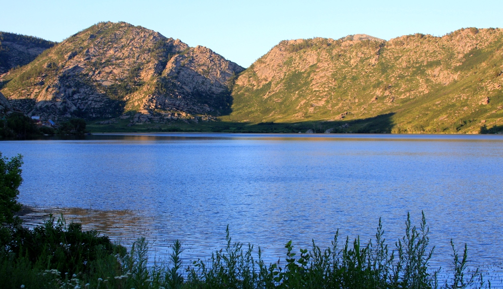 The First lake Sibiny. Ore Altai. The East Kazakhstan of province.