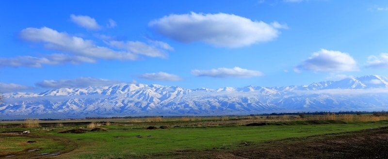 Talasskiy Alatau mountains. Vicinities of national natural park Aksu-Zhabagly.