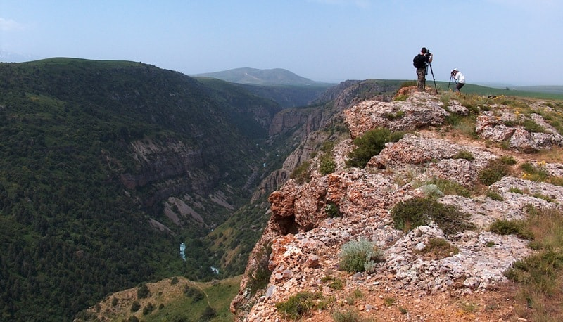 Canyon Aksu. Vicinities of national natural park Aksu-Zhabagly.