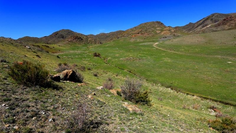 Mountain ridge the Altyn-Emel. Almaty province. Southern Kazakhstan.