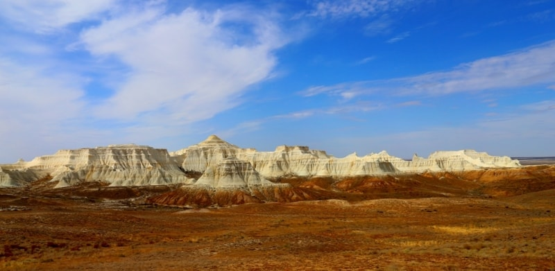 Plateau Aktolagay it is located in 250 kilometers to the east of the town of Atyrau.