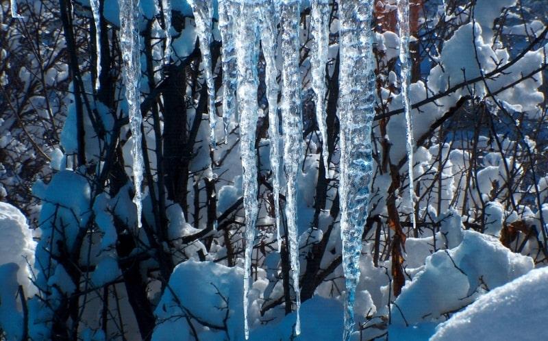 Winter in mountains of Zailiysky Ala-Tau.