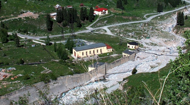 Infrastructure for prevention of mudflows in the Big Almaty gorge.