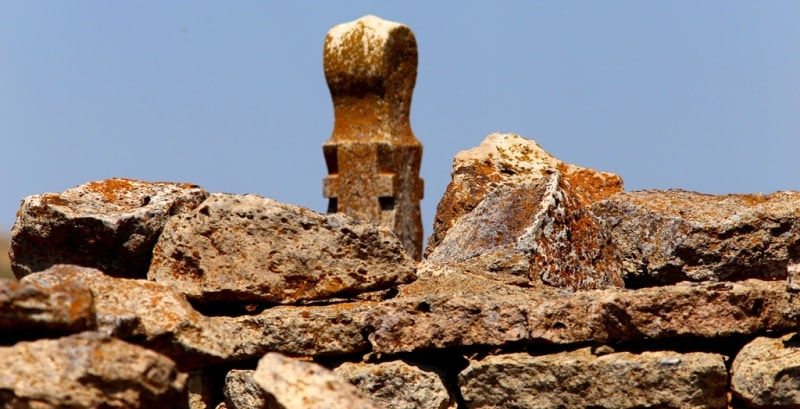 Ancient necropolises on the Kuruksay ravine. Northern the Ustyurt plateau.