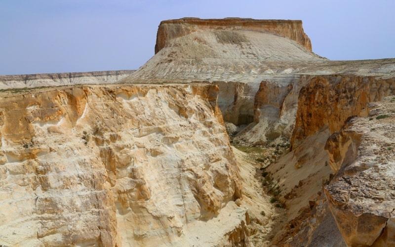 View of Boszhira canyon and mountain Borly tau.