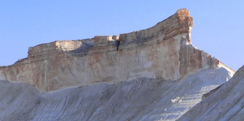 Mountain Dreadnought in valley Boszhira. Mangyshlak peninsula.