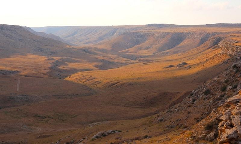 Tamshaly canyon.