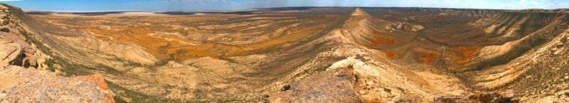 Western cliff Ustyurt on Mangystau province.