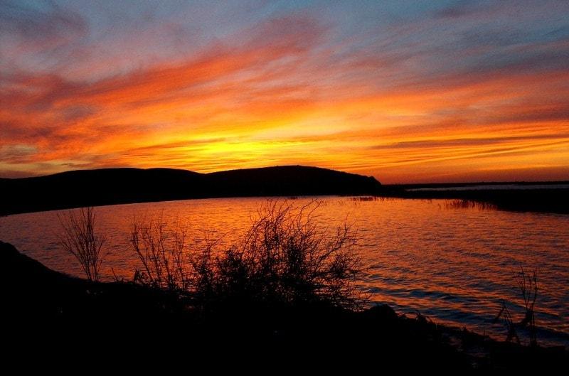 Lake Balkhash and Algazy island.