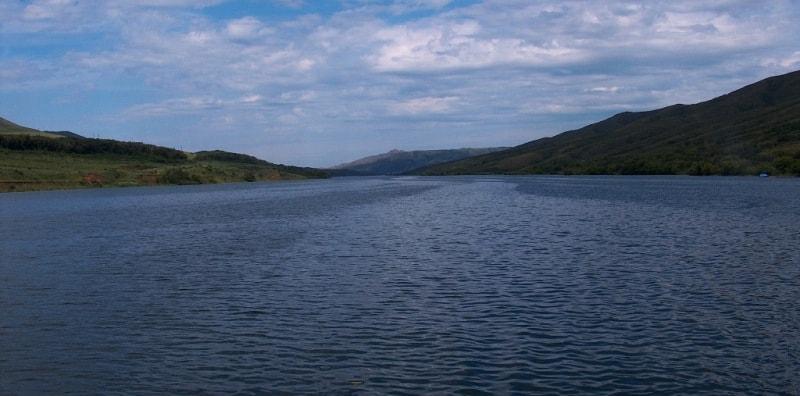 Бухтарминское водохранилище.