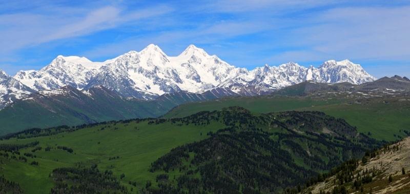 Listvyaga ridge in Kazakhstan Altai.