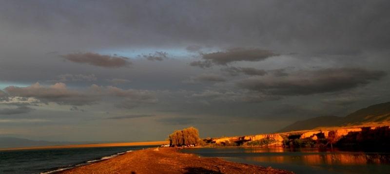 Lake Alakol and its environs.