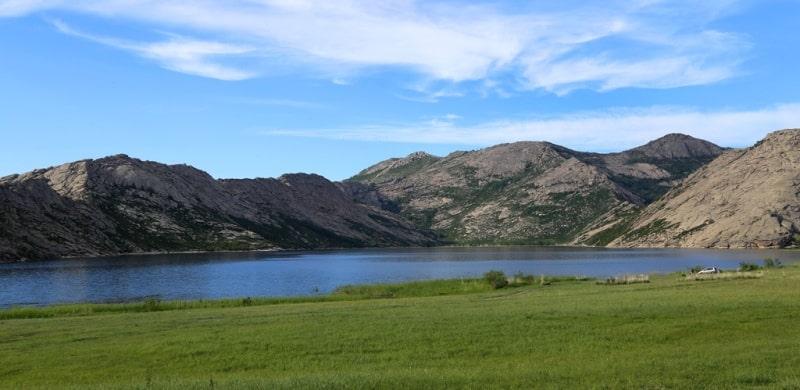 Sights of Korzhinkol lake on Kazakhstan Altai.