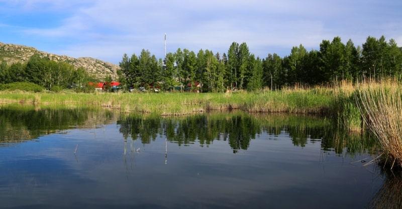Tortkara Lake and environs.