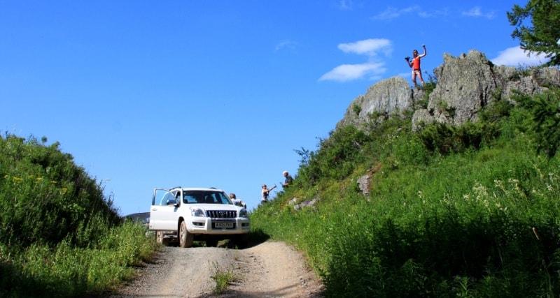 Vicinities of the pass of Alataysky. Mounts Altai.