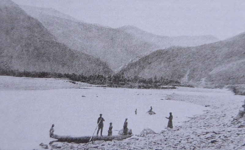 The Ulba River Valley near Ust-Kamenogorsk. Photograph of the late XIXth century.