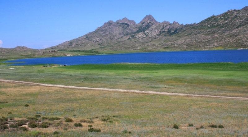 Sights of the Kazakhstan Altai. Lake of Monastyrskoe.