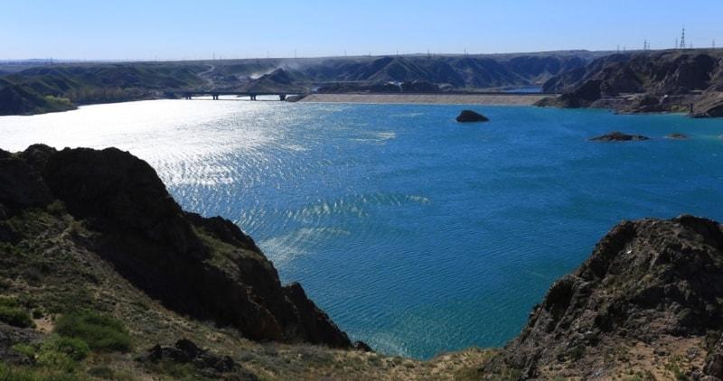 Kapshagay reservoir.