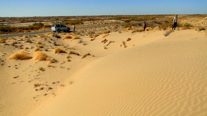 Kara Kum desert.