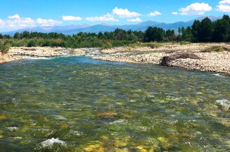 Karatal river in Kazakhstan.