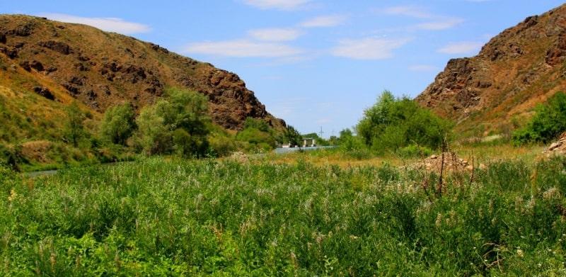 River Lepsy Dzhungarskiy Ala-Tau.
