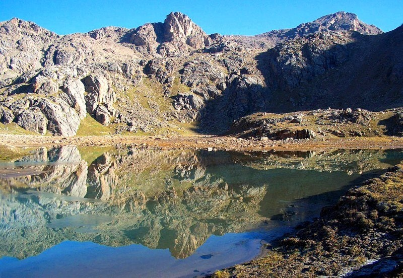 The lake in Aksay gorge.