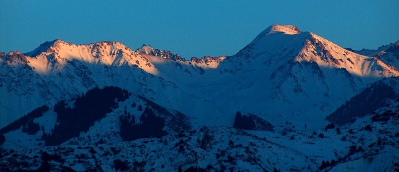 Natural sights of mountains of Northern Tien-Shan.