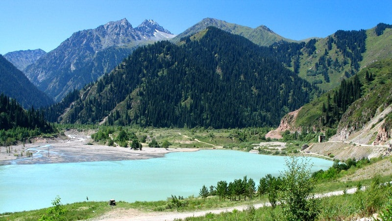 The Issyk lake.